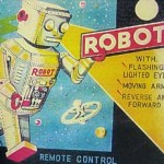 Vintage Linemar Tin Robot Battery Operated